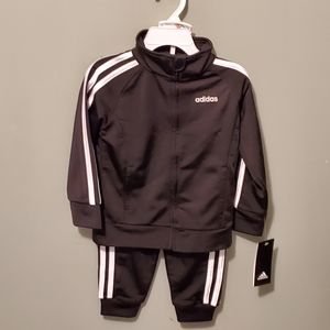Adidas Girl's 2pc Warmup Suit - 2T